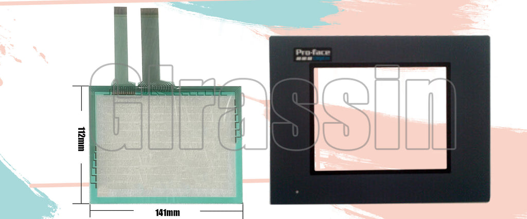 Touch Screen and Overlay for Proface HMI GP37W2-BG41-24V Replacement