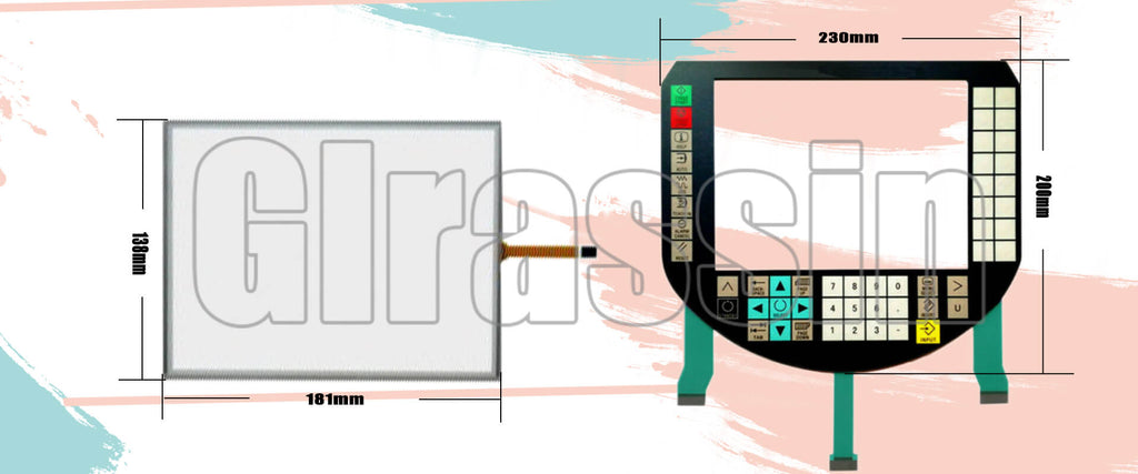 Membrane Keypad and Touch Screen for SINUMERIK HT 8 Repair Replacement