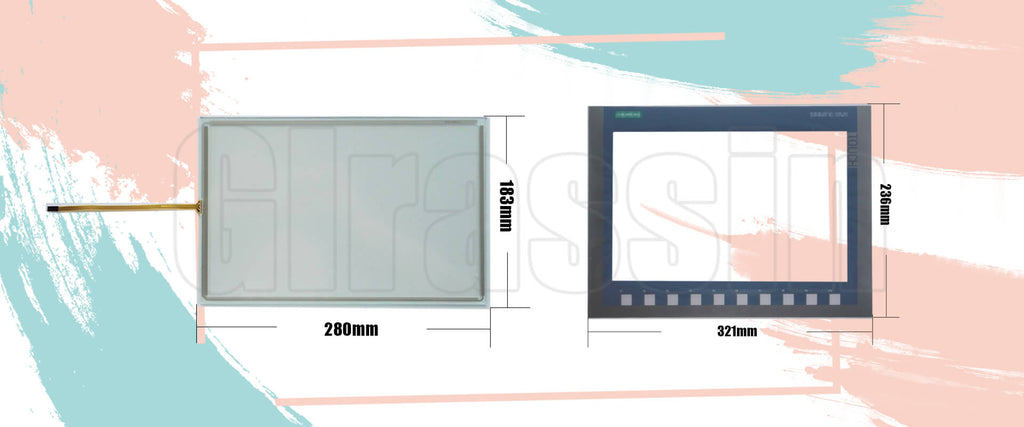 Touch Screen and Keyboard for Siemens SIMATIC KTP1200 Basic