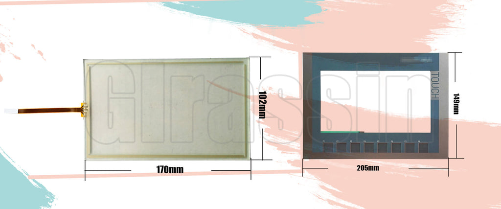Touch Screen and Keyborad for Siemens SIMATIC KTP700 Basic