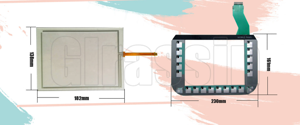 Touch and Keypad for Siemens SIMATIC HMI Mobile Panel 277 8""