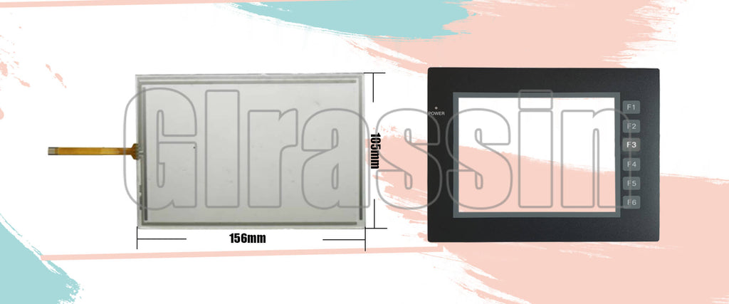 Touch Screen and Overlay for Omron HMI NP5-SQ000(B) Replacement