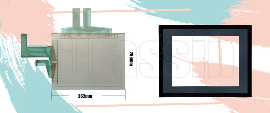 Touch Screen and Protective Flim for Omron HMI NS10-TV00B-V1 Replacement