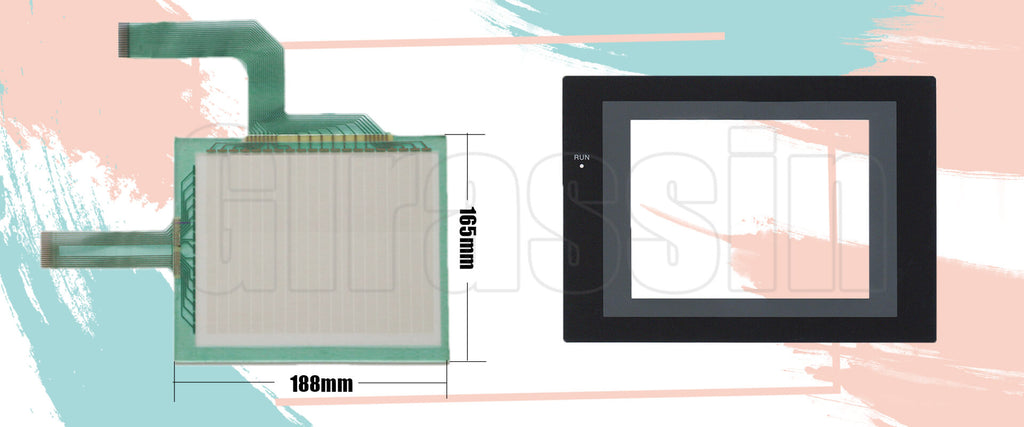 Touch Screen and Protective Flim for Omron HMI NS7-SV00B/01B Replacement