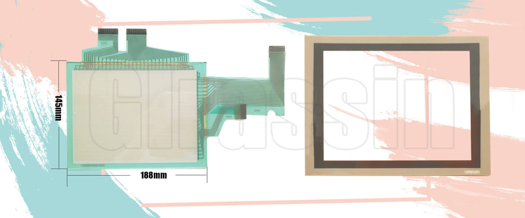 Touch Screen and Protective Flim for Omron HMI NS8-TV10/TV11-V1 Replacement
