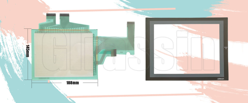 Touch Screen and Protective Flim for Omron HMI NS8-TV01B-V1/V2 Replacement