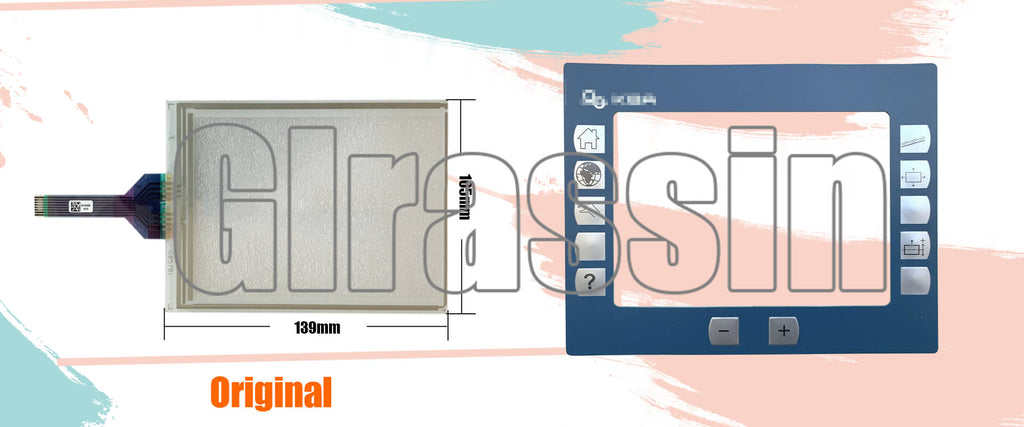 Touch Screen and Membrane Keypad for KBA 4PP380.0571-K05 POWER PANEL 300 Repair Replacement