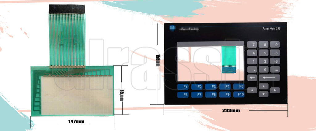 Replacement for PanelView 550 TOUCHSCREEN/KEYPAD