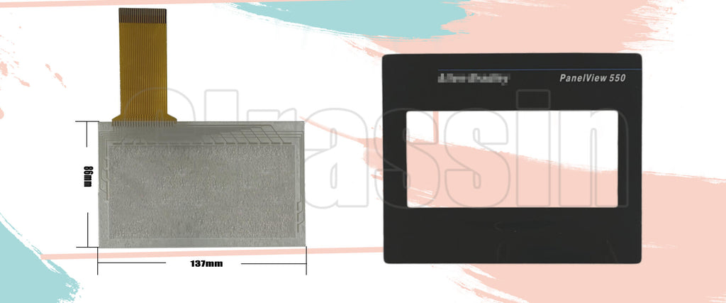 Touch Panel and Protective Flim for Allen Bradely PanelView 550 TOUCHSCREEN TERMINAL