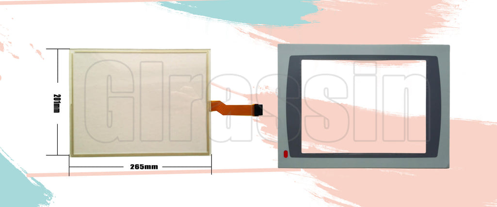 Touch Screen and Overlay for PanelView Plus 1250 2711P-T12 Replacement