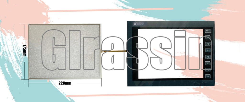 Touch Screen and Overlay for Beijer HITECH-PWS6A00 Replacement