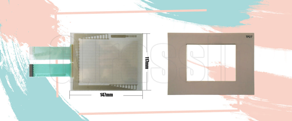 Touch Screen and Protective Flim for Siemens TOUCH PANEL TP27-6 Repair