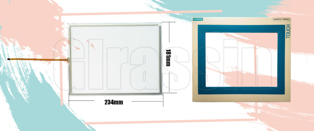 """Touch Screen and Protective Flim for Siemens TOUCH PANEL TP270 10"""" Replcement"""