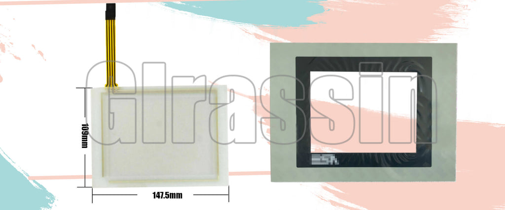 Touch Screen and Protective Flim for ESA Automation HMI VT525W Replacement