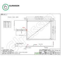 10.4 INCH Original Touch Screen for AMT2527 91-2527-00A - Glrassin
