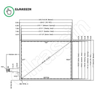10.4 INCH Original Touch Screen for AMT9541 Replacement - Glrassin