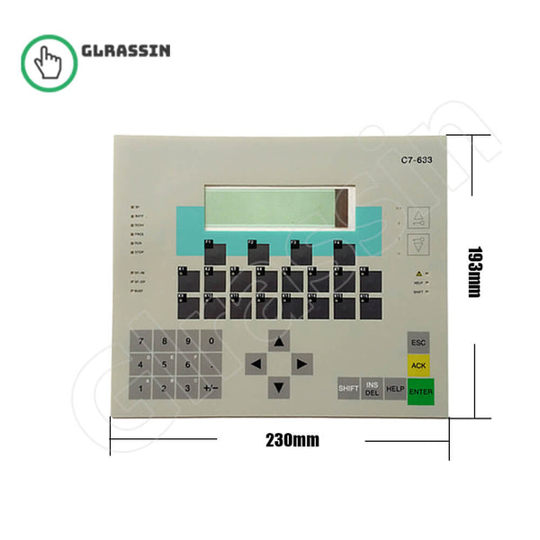Membrane Keyboard for Siemens SIMATIC HMI C7-633 DP/P - Glrassin