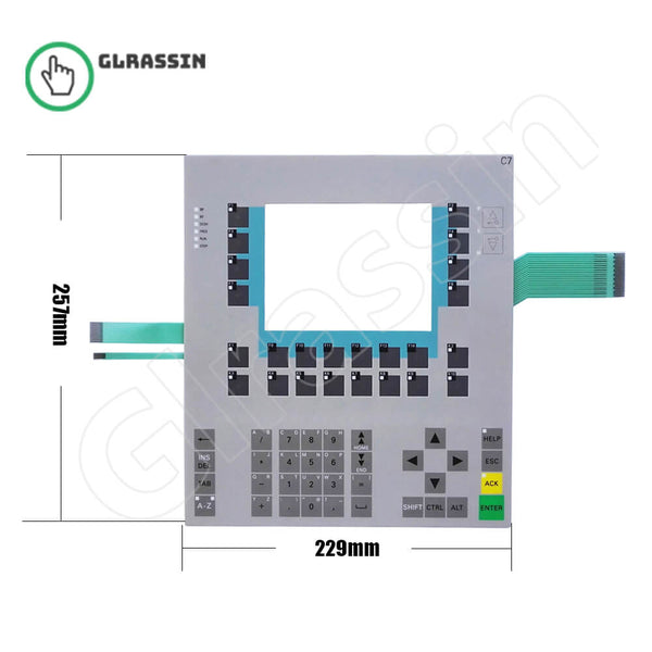 Membrane Keypad for Siemens SIMATIC HMI C7-635 KEY - Glrassin