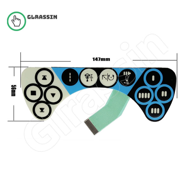 Membrane Keypad for ABB IRC5 FlexPendant Replacement - Glrassin