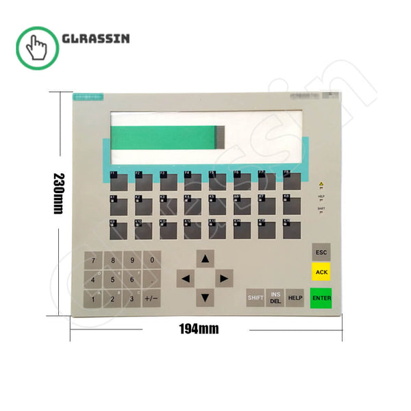 Membrane Keyborad for Siemens SIMATIC OP17 HMI Replacement - Glrassin