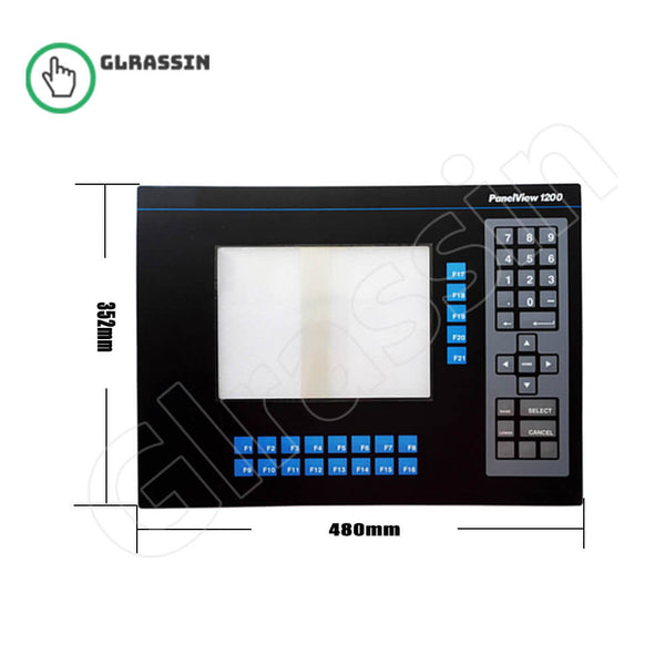 Membrane for Panelview 1200 2711-KA1 Keypad Replacement - Glrassin