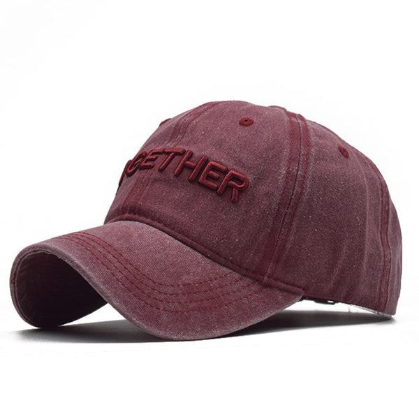 Vintage Letter TOGETHER Baseball Cap
