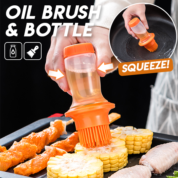 All In One Oil Brush & Bottle