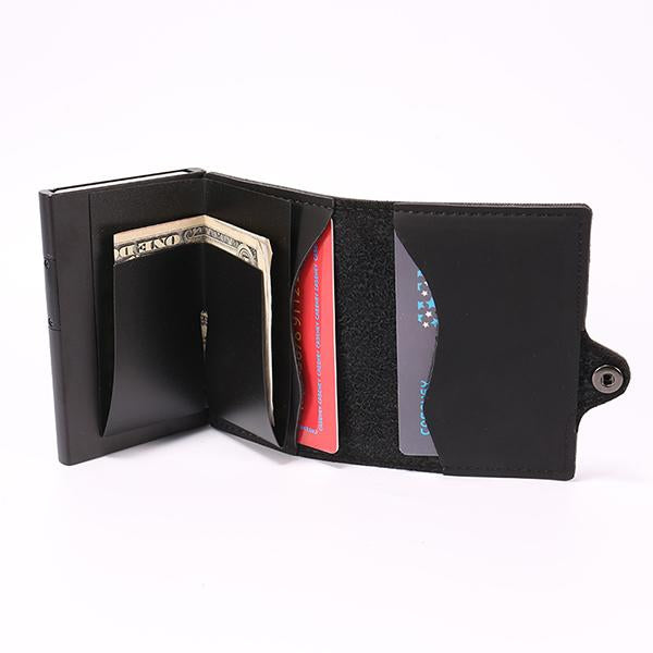 Luxury Men's Rfid Wallet Pop-up Business Card Holder