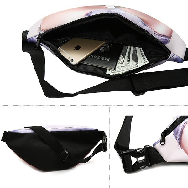 Outdoor Sports Creative Sexy Ass Waist Bag