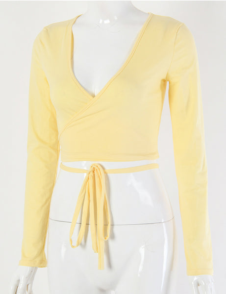Daisy Wrap Yellow Top