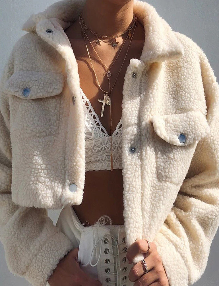 Teddy Bear White Jacket