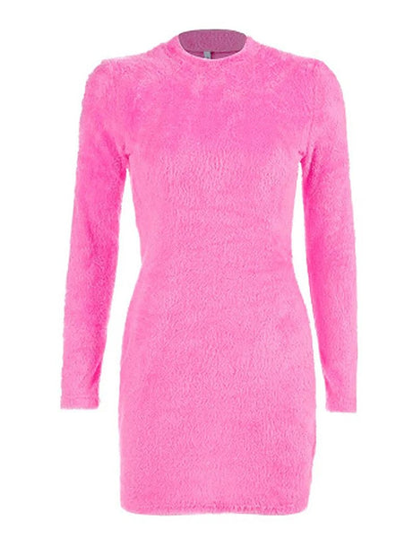 Pink Teddy Mini Dress