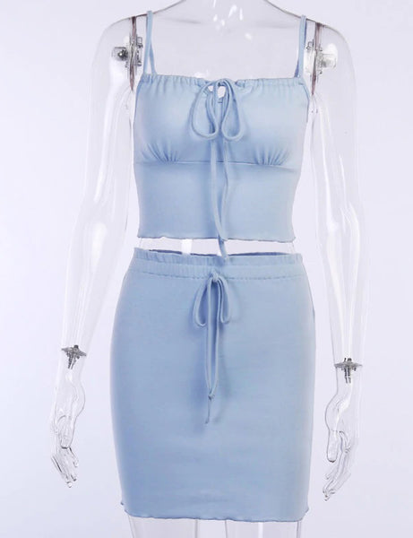 Blue Sky Tied Up Two Piece Co Ord
