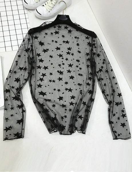 Star Struck Mesh Top