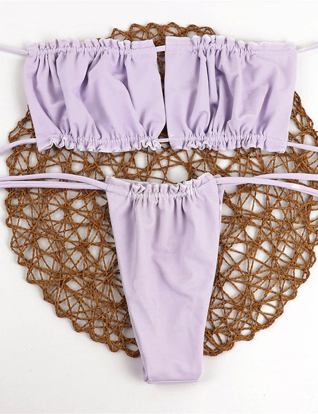 Tied Up Dream Purple Two Piece Swimsuit