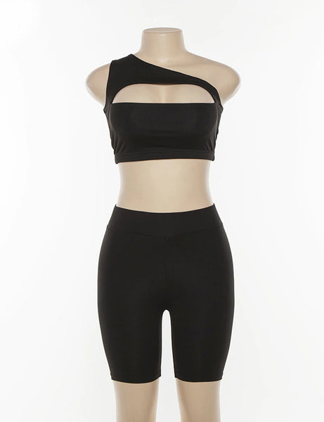 Black Cut Out Two Piece Co Ord