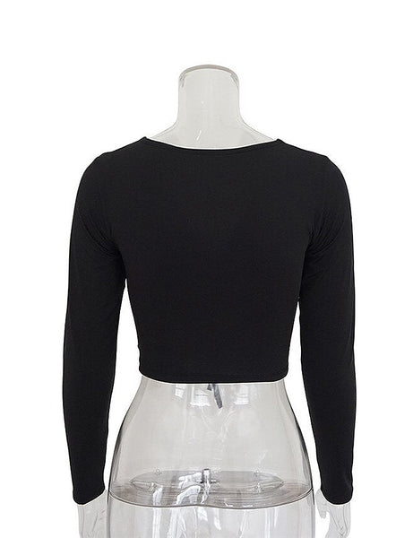 Demi Black Ruched Top