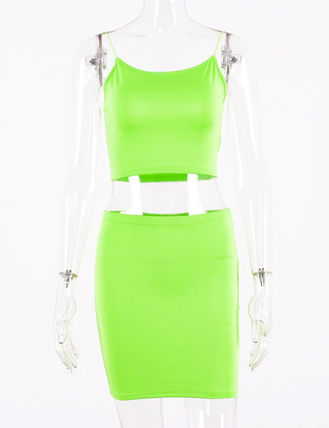 Ella Love Neon Green Two Piece Co Ord