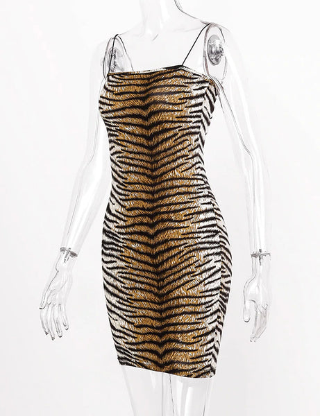 Animal Print Tube Style Mini Dress