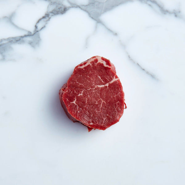 Beef Eye Fillet Steaks Centre Cut Grass Fed Premium Angus O'Connor 220g x 2 Pieces Vic's Meat