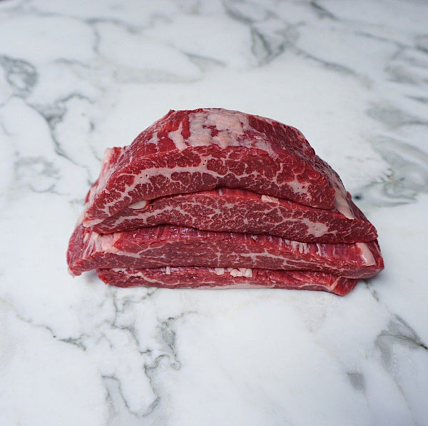 Beef Flank Steak Black Onyx Rangers Valley (4x pieces by 220g approx. 0.88-1.0kg) Vic's Meat