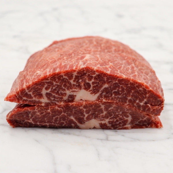 Beef Flat Iron Steak Marbling Score 5+ Rangers Valley Black Market - 500g x 1 Piece Map 60mm Vic's Meat