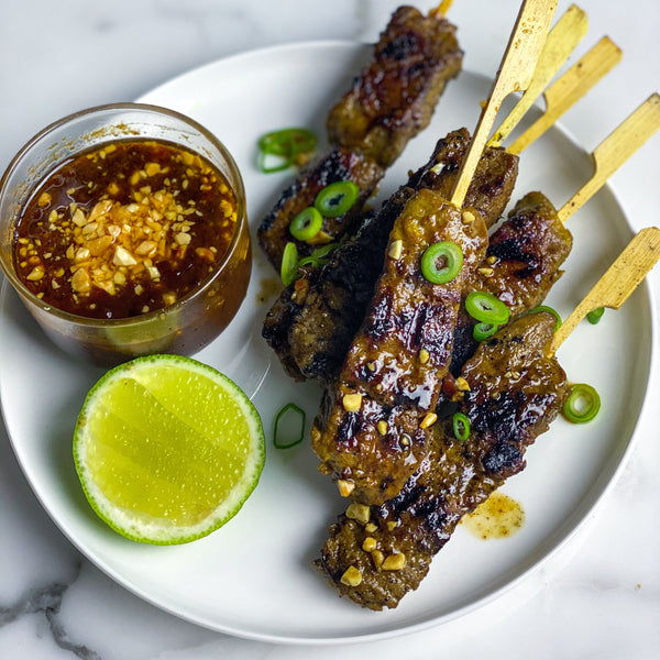 Beef Satay Skewers - 50g x 8 Pieces Vic's Meat