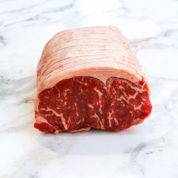 Beef Sirloin Roast Hand Tied Black Onyx Rangers Valley 2.0 kg x 1 Piece Map 60mm Vic's Meat