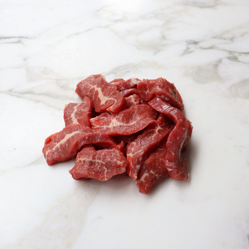 Beef Stir Fry Strips Grass Fed - 500g Vic's Meat