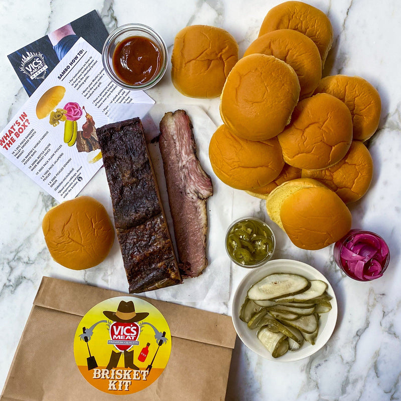 B.Y.O.B.B - BUILD YOUR OWN BRISKET BURGER Kit Vic's Meat