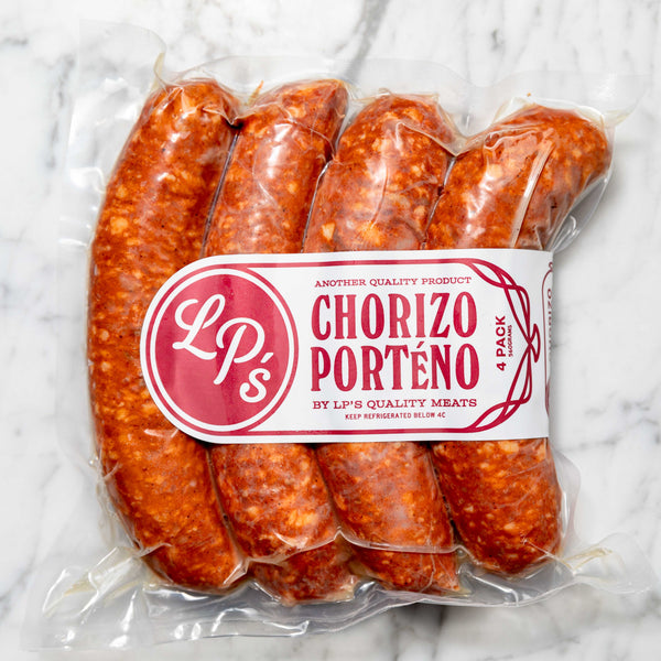 Chorizo Sausage Free Range LP's Quality Meats 135g x 4 Pieces Original Packaging from Manufacturer Vic's Meat
