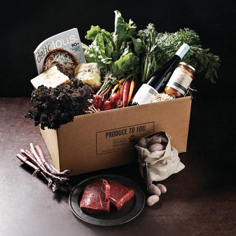 Delicious 'Produce to You' Curated Box Vic's Meat