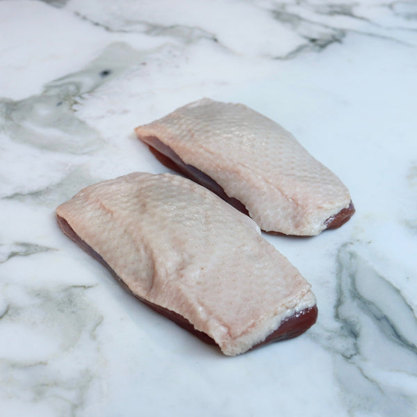 Duck Breast Fillet 200g x 2 Pieces Map 80mm Vics Meat