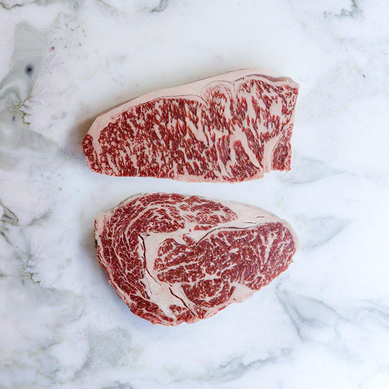 Fullblood Wagyu Steak Set Marble Score 9+ Stone Axe - 300g x 2 Pieces Vic's Meat